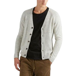 Frank And Oak Wool Natural Donegal Cardigan